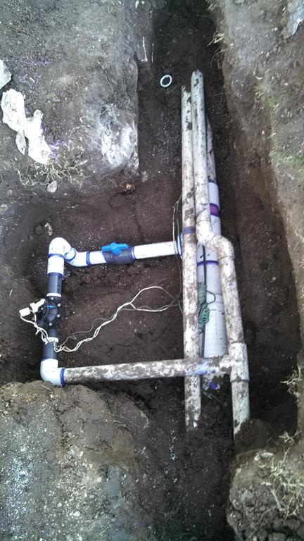 Irrigation repair in state park